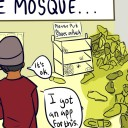 comic about issues you encounter at the mosque