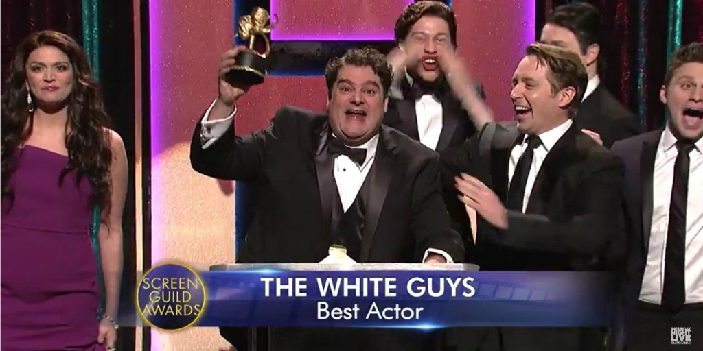 SNL skit making fun of #OscarsSoWhite
