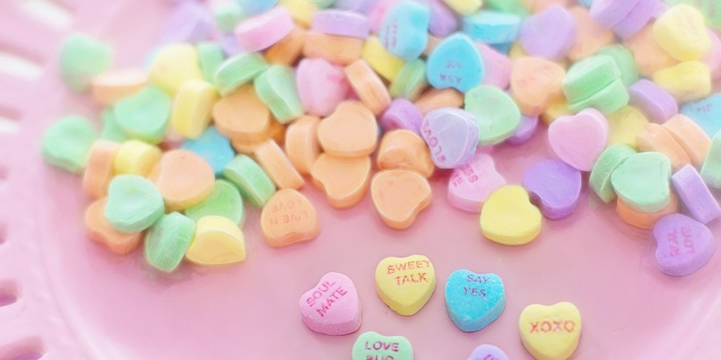 Valentine's Day conversation hearts