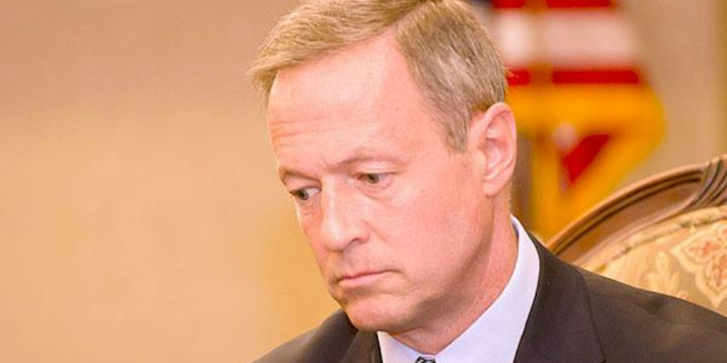 Martin O'Malley at a town hall looks like he won't be getting a rose from America