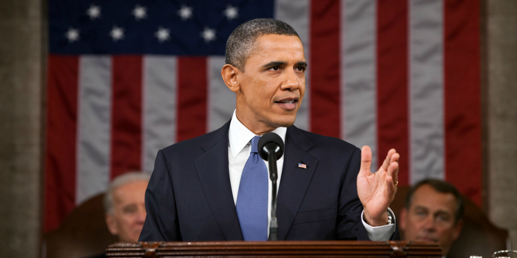 President Obama at his final State of the Union