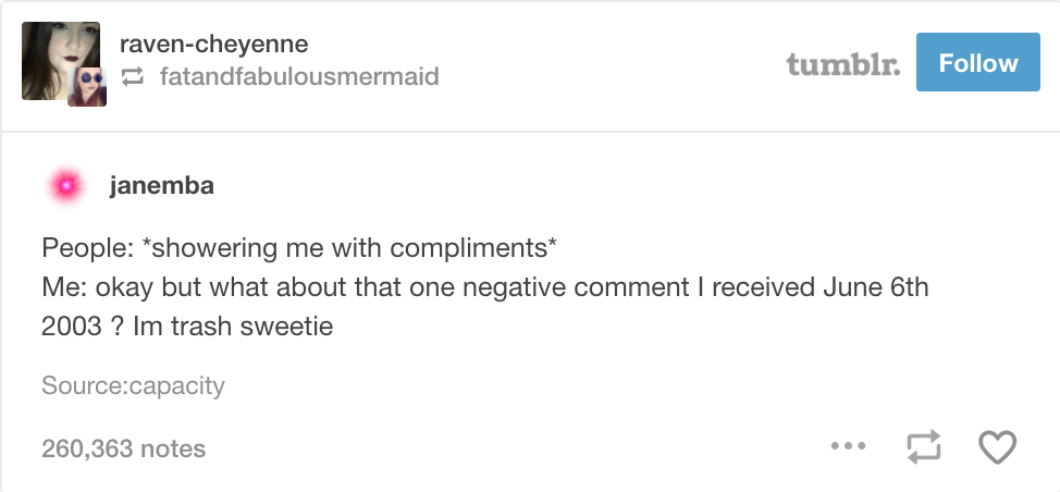 Tumblr screenshot shower me with compliments