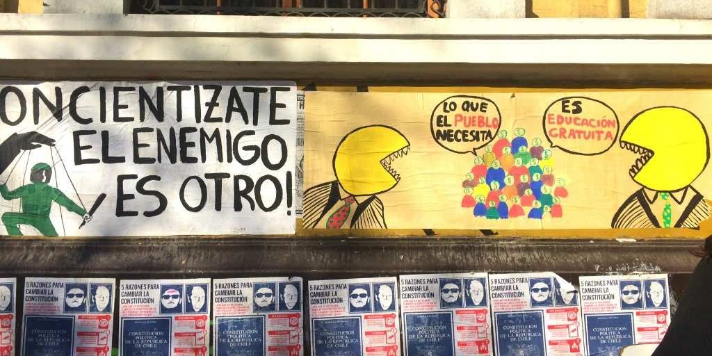 These Chilean student protests are totally rewriting history