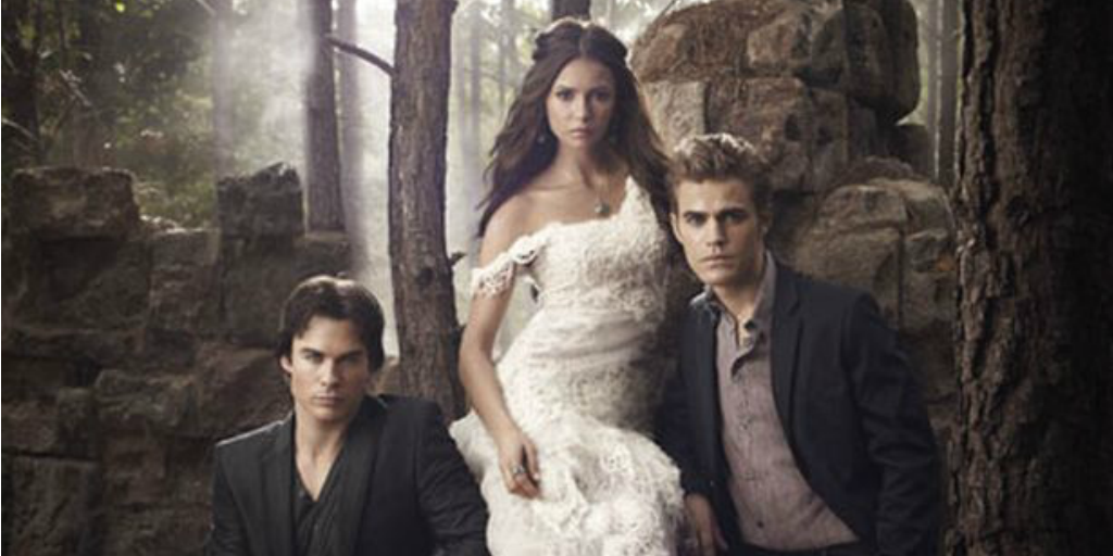 Image of Elena, Stefan, and Damon