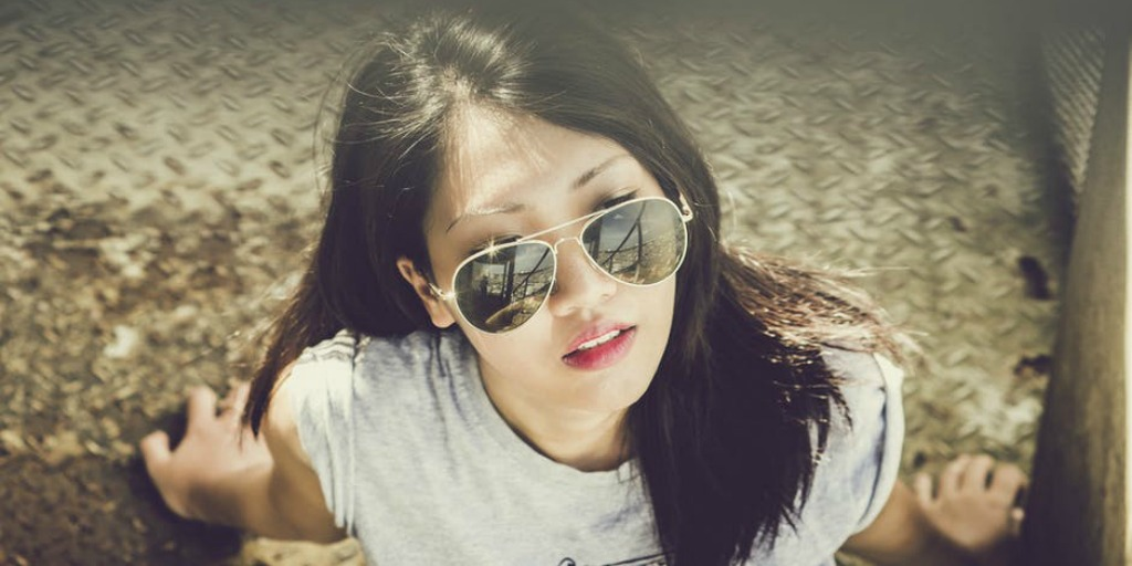 Asian woman with sunglasses