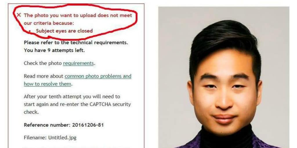 asian man passport denied