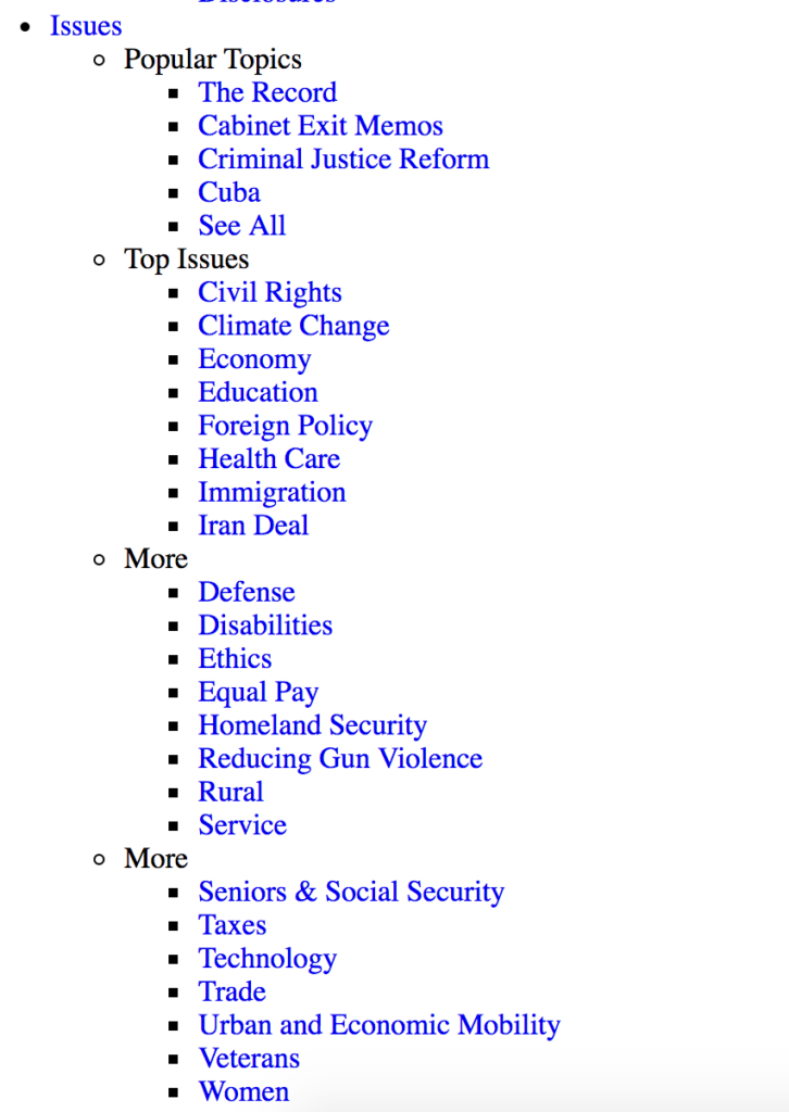 Previous List of Issues Screenshot