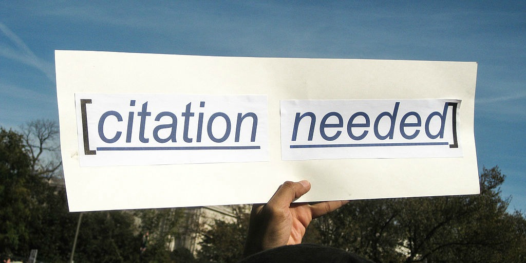 Sign that says Citation Needed