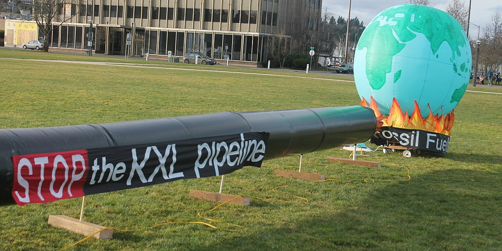 pipelines protest sculpture
