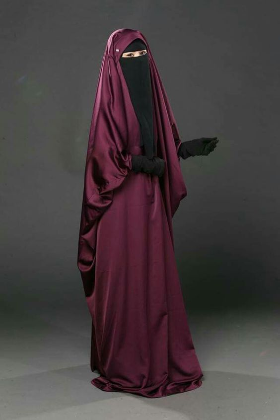 red french jilbab with black niqab set