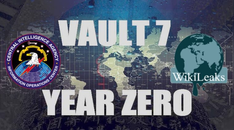 Vault 7 text with CIA logo in the image