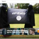 Youtube ad featuring ISIS flag and women in veils