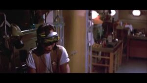 "VR headset being used in the movie ""Hackers"""