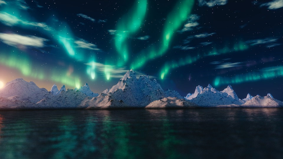 northern lights, beautiful places