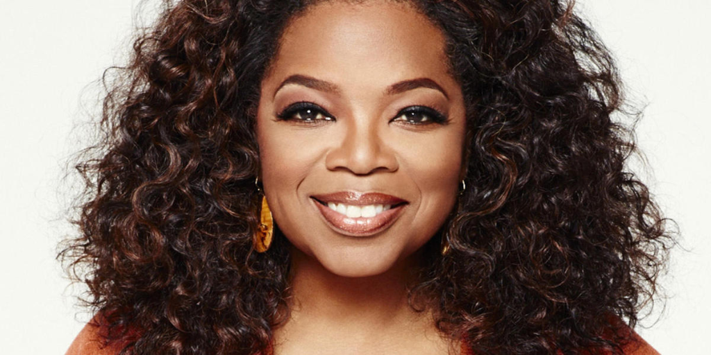 A glamourous picture of Oprah Winfrey.