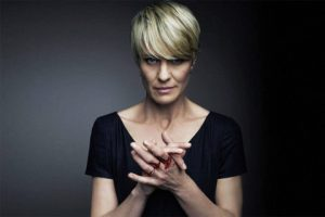 Claire Underwood from House of Cards staring menacingly at the camera.