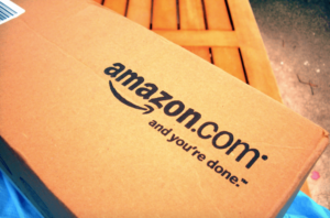 """[Image description: box from Amazon with words """"amazon.com and you're done"""" Flickr.com"""