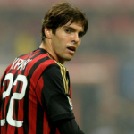 A picture of Kaka in number 22 Ac Milan jersey looking back. (Source: zimio.com )