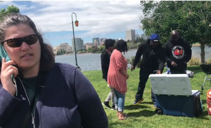 Women calls police on black people barbecuing.