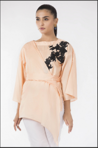 Wrap-around tunic from brand's ready-to-wear collection, Price: $21.36