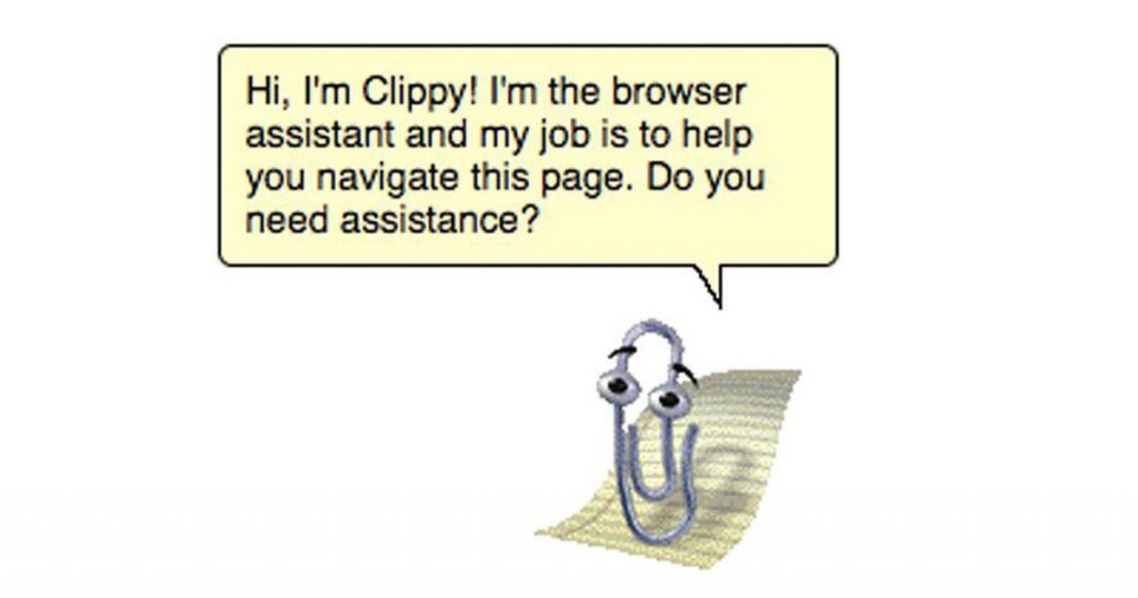 [image description: Clippy from Microsoft Word]