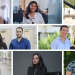 Image description: A collage of images of the founders of the nine startups in the 2018 Womentum cohort.