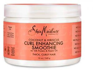 [Image description: Shea Moisture Curl Enhancing Smoothie in a jar container.]