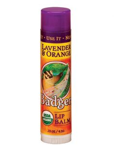 Badger Lavender and Orange Lip Balm