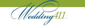 The logo Wedding411 in blue and green font]