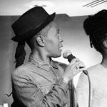 """Raquel """"Ra"""" Brown and her daughter perform at an open mic. Image courtesy of Raquel Brown."""