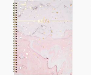 : A pink and sparkly notebook