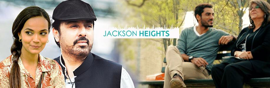 'Jackson Heights' official poster depicting the main characters of the show.