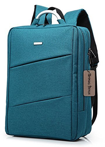 [Image description: Slim backpack with capacity for laptop.] via Amazon.