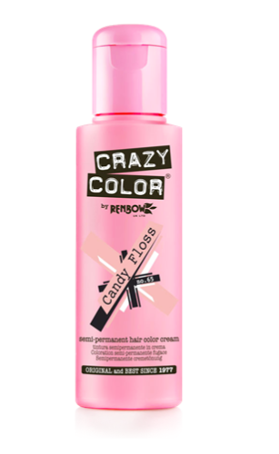 [Image description: Bottle of Crazy Color by Renbow in Candy Floss.] Via Crazy Color.