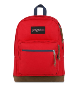 Right Pack in Red Tape against white background. Via JanSport.