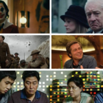 A collage of stills from films nominated for Best Director in the 77th Golden Globes Nominations.