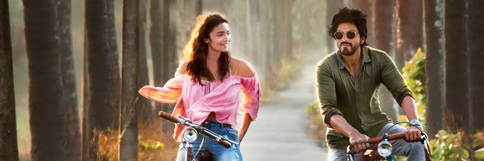 A man and a young woman cycling together in Bollywood Film 'Dear Zindagi'.