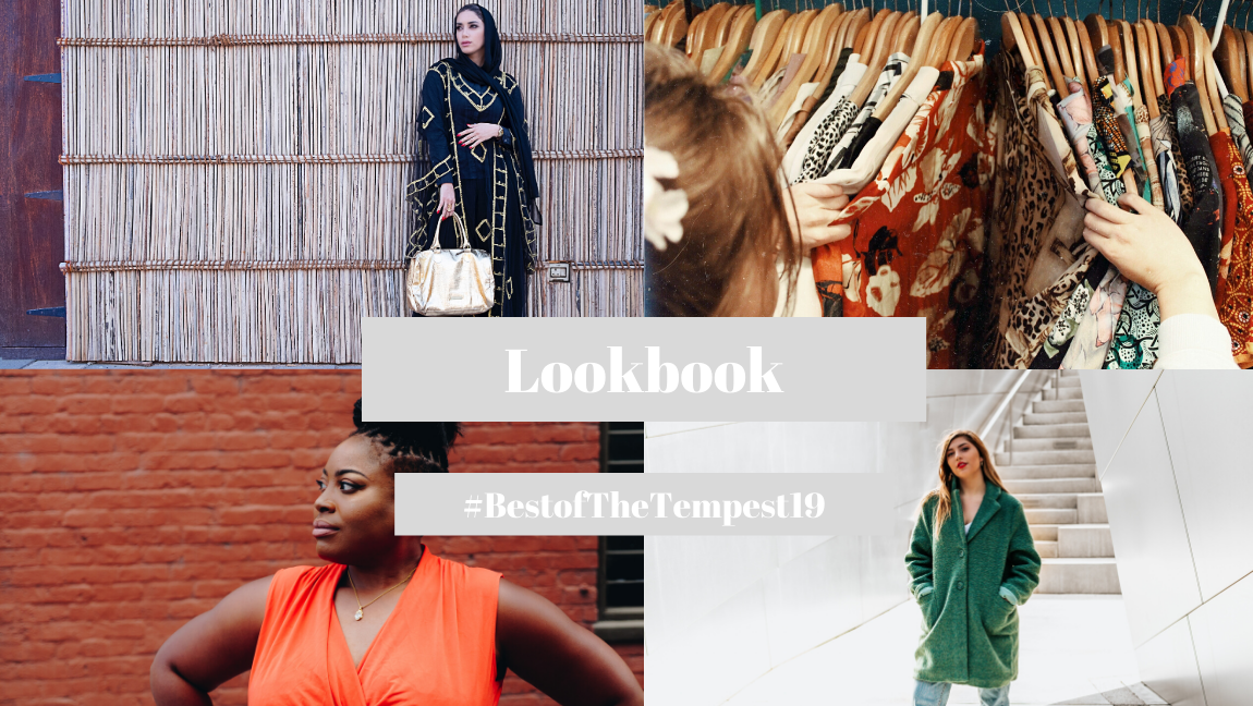 Collage featuring images from the best Lookbook articles of 2019 and the hashtag #BestofTheTempest19.