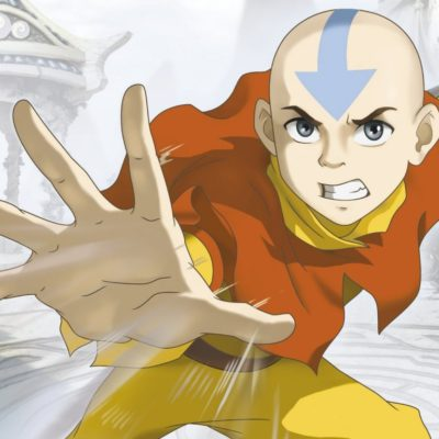 Aang from Avatar bending air