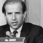 [Image Description: A grayscale photo of presumptive Democratic presidential nominee Joe Biden from when he was a Senator in Delaware circa 1993] Via JoeBiden.com