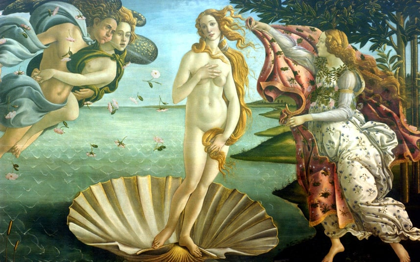 The Birth of Venus famous renaissance painting