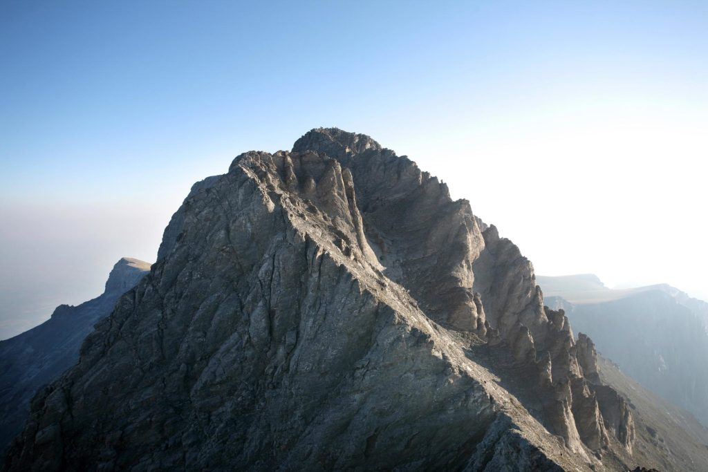 Mount Olympus peak in Greece