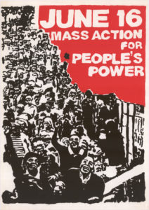 A poster for 1976 Soweto Uprising in South Africa