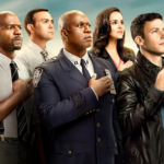 Promotional photo featuring the cast of Brooklyn 99.