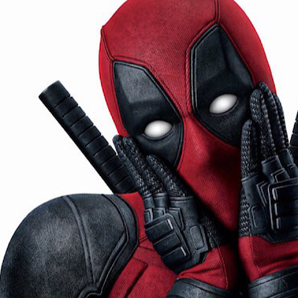 Deadpool holds his hands against his face in a sarcastic pose.