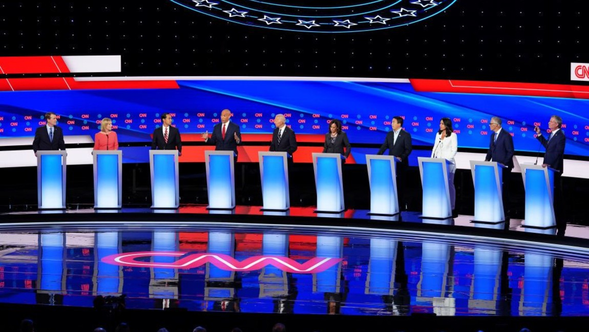 [Image Description: Democratic debate in Detroit, MI on July 31, 2019] Via wxyz.com