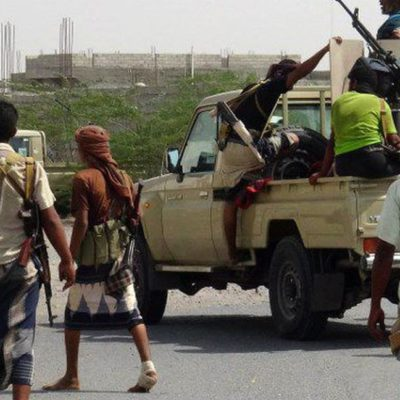 Pro-government forces walk through Yemen. Via scroll.in