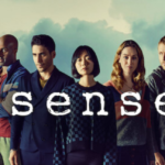 [Image Description: The cast of Sense8. Eight people look off into the distance.] via Sense8.