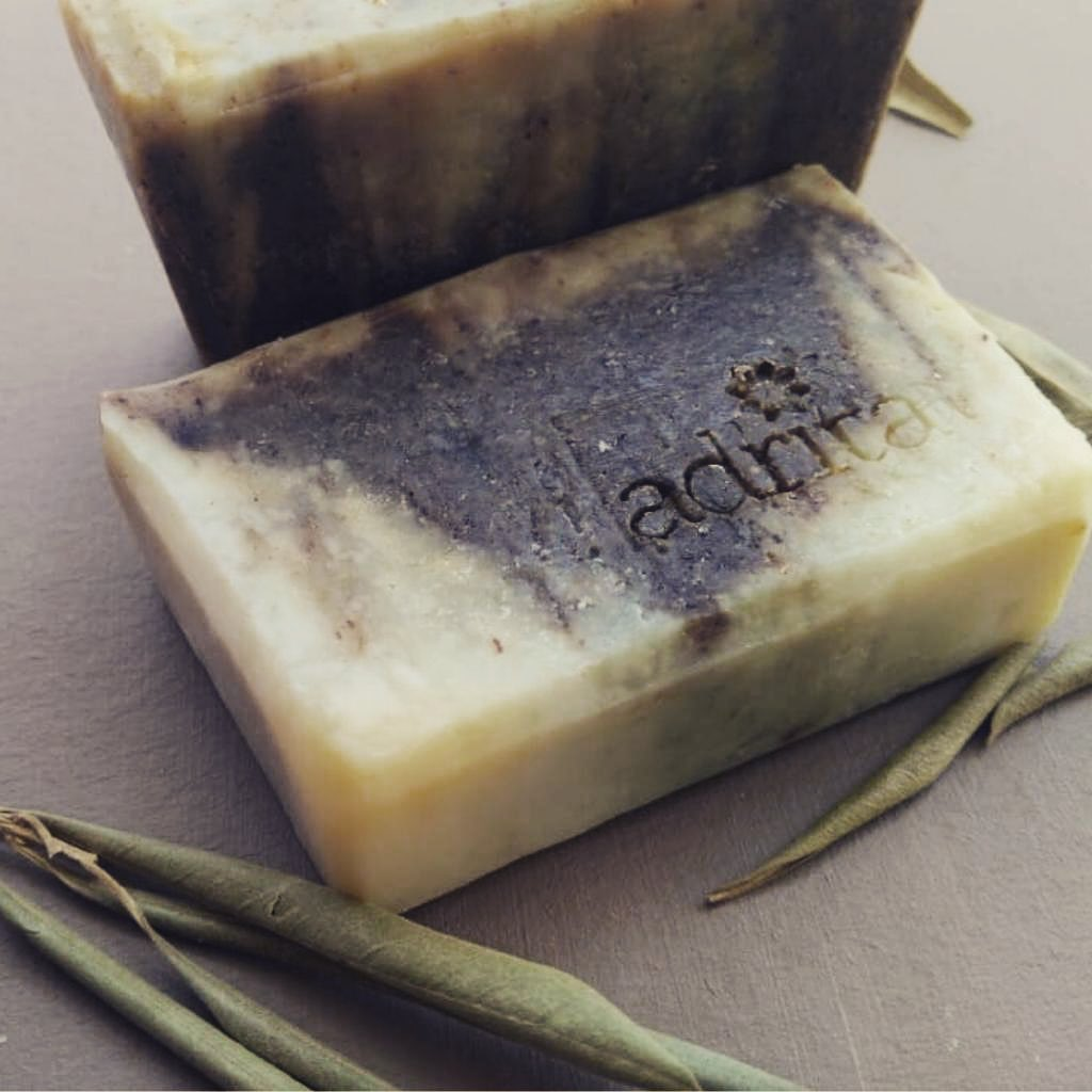 Two of the available 'Zaytun' organic soaps made from dried olive leaves for soft and supple skin.