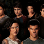 [Image description: promotional image of the wolf pack in the Twilight Saga] via Summit
